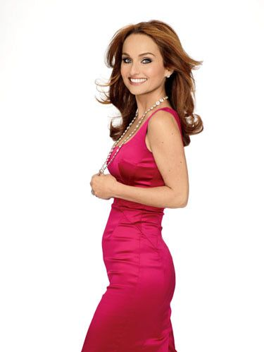 giada in bright pink dress