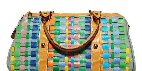 colorful woven handbag