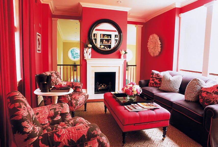 Attirant Kick Your Fear Of Color And Brighten Up A Bland Room With These Fun Red  Accessories And Bold Paint Colors.