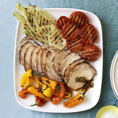 porchetta style grilled pork loin