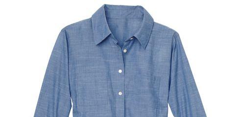Clothing, Blue, Product, Dress shirt, Collar, Sleeve, Textile, Shirt, White, Style,