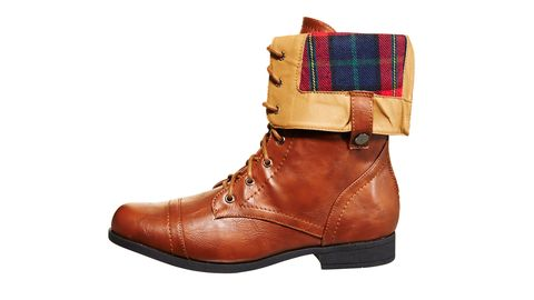 plaid lining boots