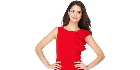 Product, Dress, Sleeve, Shoulder, Human leg, Waist, Standing, Joint, One-piece garment, Elbow,