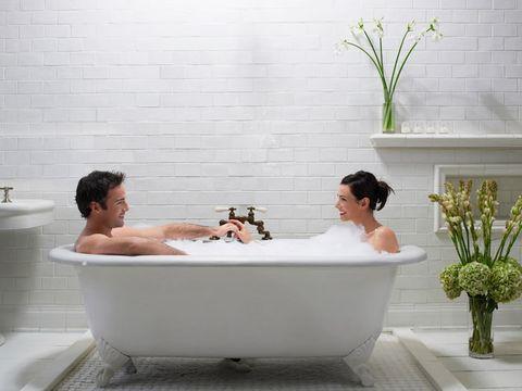 couple in bath