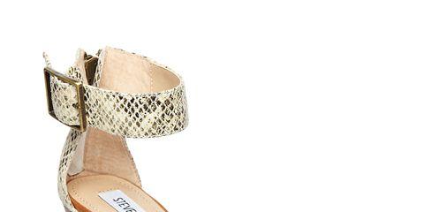 snake skin and brown wedge sandal