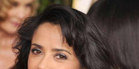 Salma Hayek with big hair