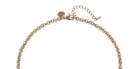 coral stone metal drop necklace