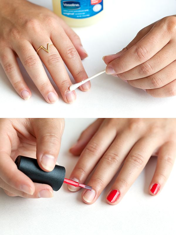 Nail Painting Tips Vaseline - Painting Ideas