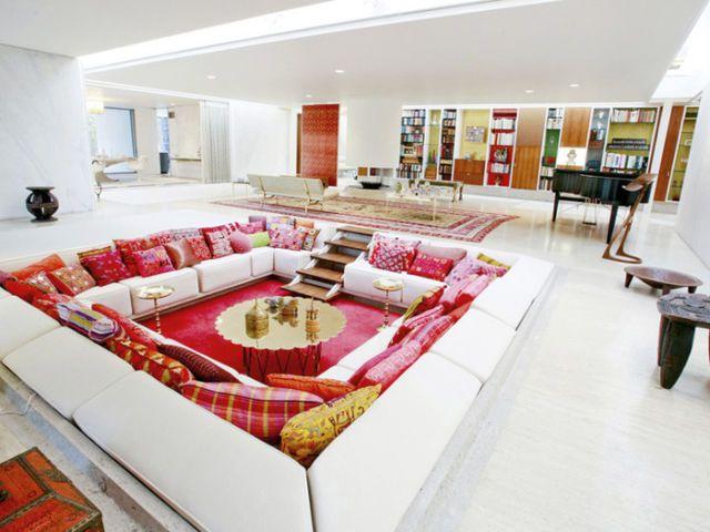 Miller house and garden living room