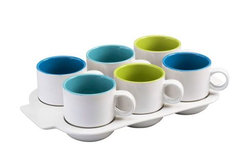 tea cups and tray