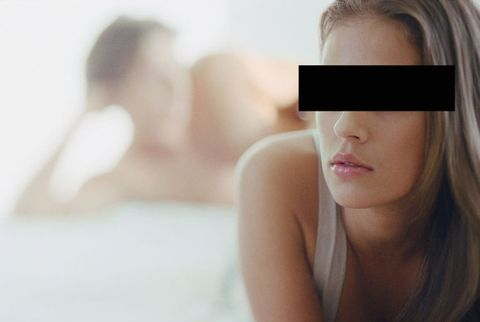anonymous woman cheating