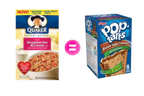 oatmeal and pop tarts
