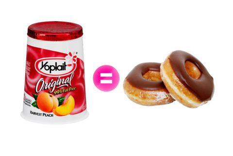 yogurt and doughnuts