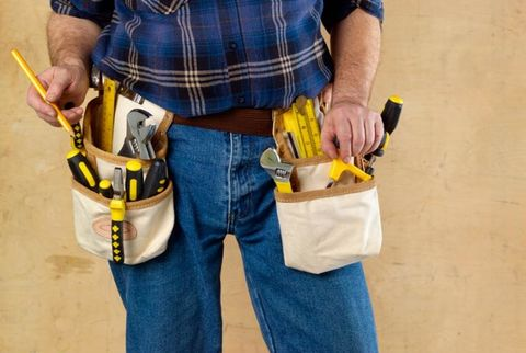 Man with tool belt