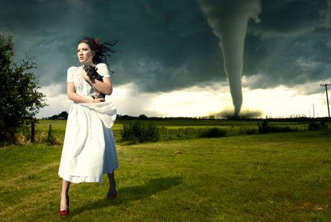 Girl in tornado