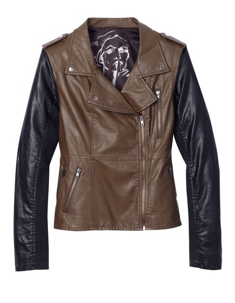 tailored leather jacket for women