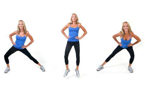 Side lunge jump