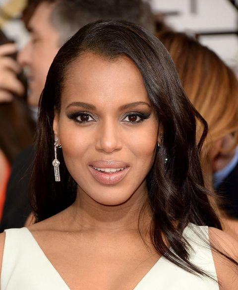 Kerry Washington, Golden Globes 2014, hairstyles