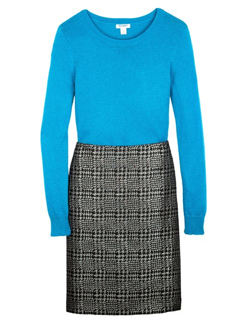 Blue, Product, Sleeve, Shoulder, Textile, Standing, Style, Electric blue, Pattern, Aqua,