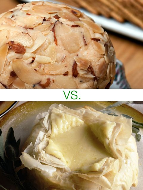 Cheese balls vs. baked brie