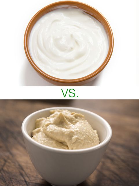 Greek-yogurt based dips vs. hummus