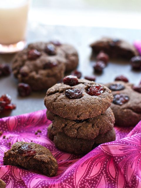 Chocolate Cranberry Breakfast Cookies