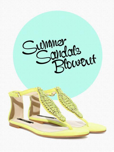 Teal, Turquoise, Aqua, Font, Tan, High heels, Poster, Sandal,