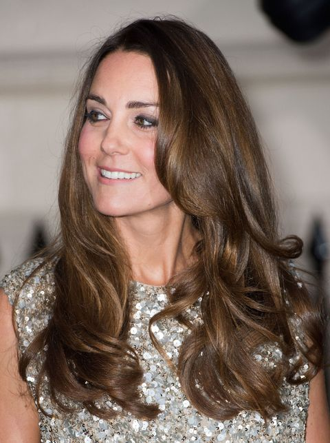 Extra-long locks: Kate Middleton