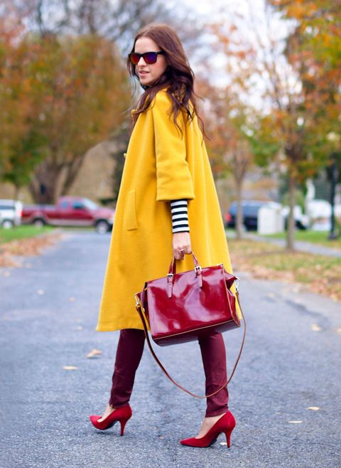 brightly colored coats