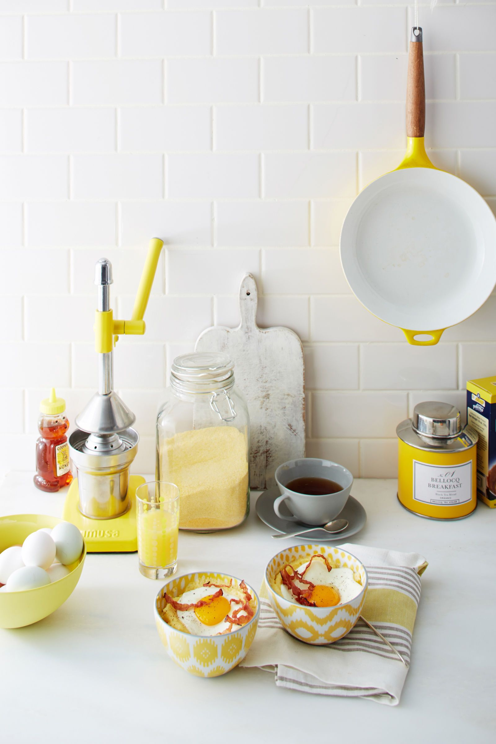 colorful recipes and tableware