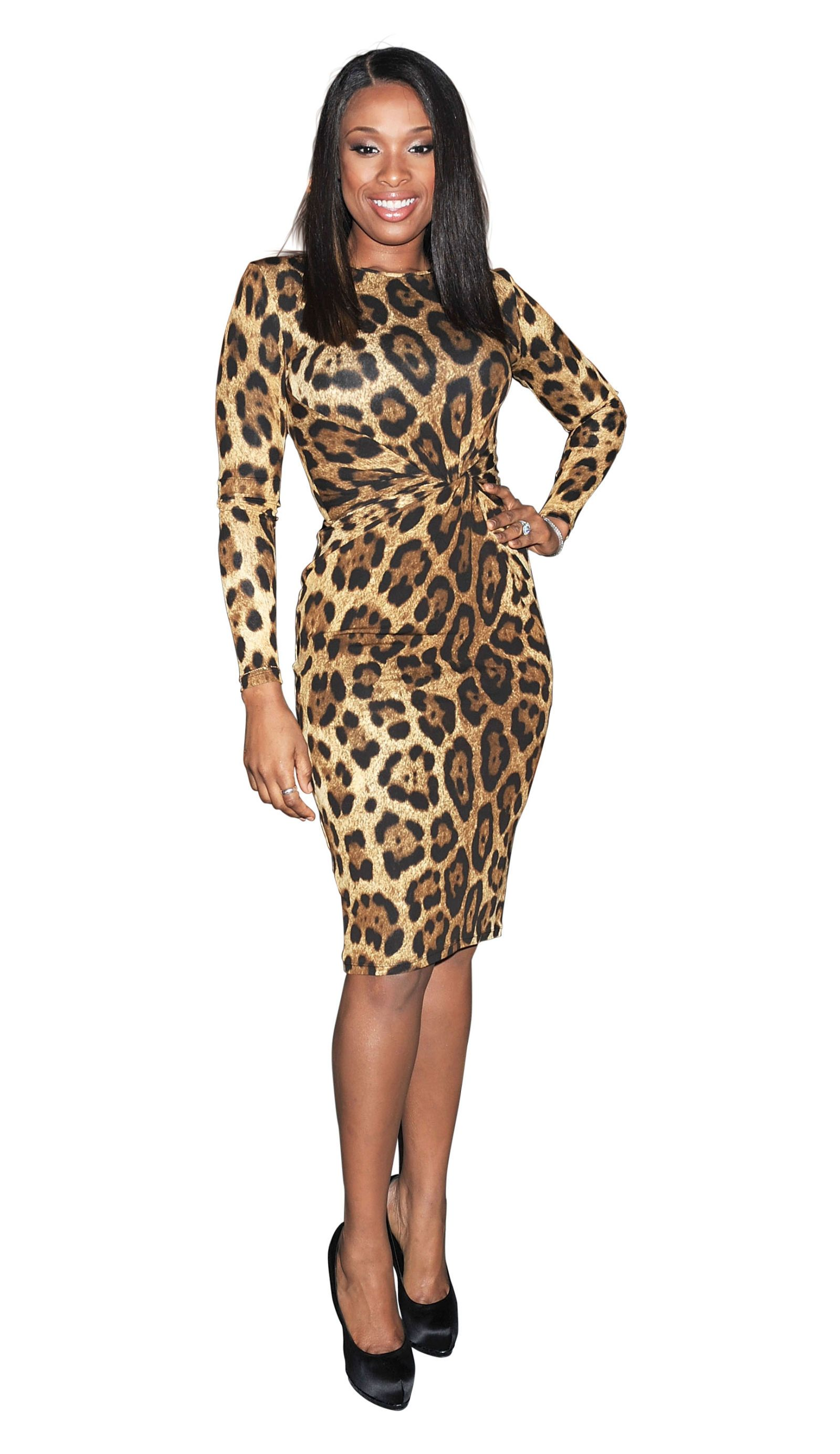 jennifer hudson leopard dress