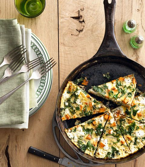 sweet potato kale frittata