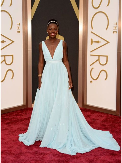 This powder-blue Prada was perfection for the red carpet darling.