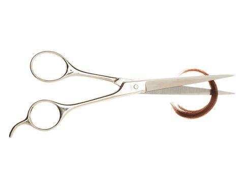 Shiny hair tips
