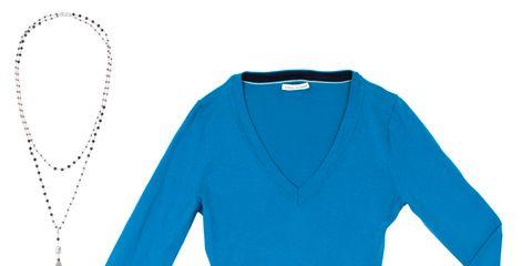 Blue, Brown, Collar, Sleeve, Shoulder, Textile, Standing, Style, Orange, Electric blue,