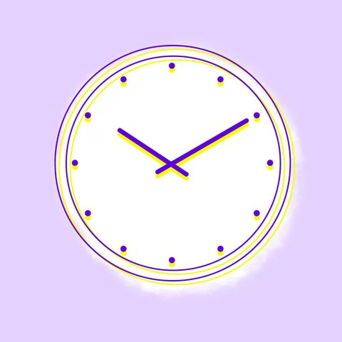 Purple, Violet, Colorfulness, Line, Lavender, Circle, Parallel, Clock, Wall clock, Home accessories,