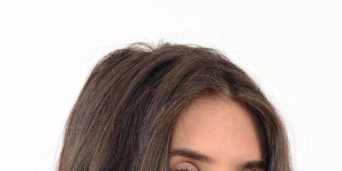 Lip, Hairstyle, Skin, Chin, Forehead, Eyebrow, Eyelash, Fashion accessory, Style, Chest,