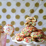 Pattern, Party supply, Pink, Dessert, Sweetness, Confectionery, Polka dot, Baked goods, Recipe, Snack,
