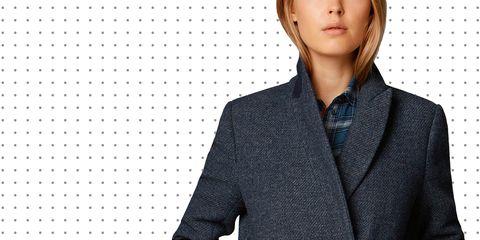 Collar, Sleeve, Dress shirt, Shoulder, Coat, Formal wear, Pattern, Style, Blazer, Button,