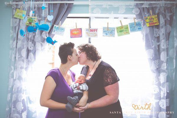 Lesbians breastfeeding nursing each other