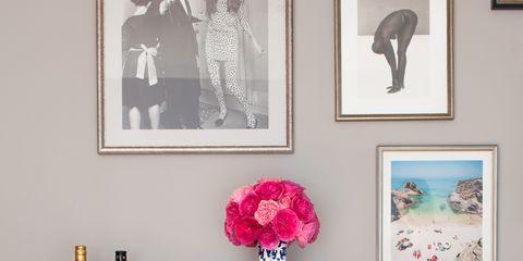 Room, Bottle, Interior design, Interior design, Picture frame, Shelving, Drink, Glass bottle, Home accessories, Drawer,