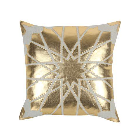 metallic gold pillow