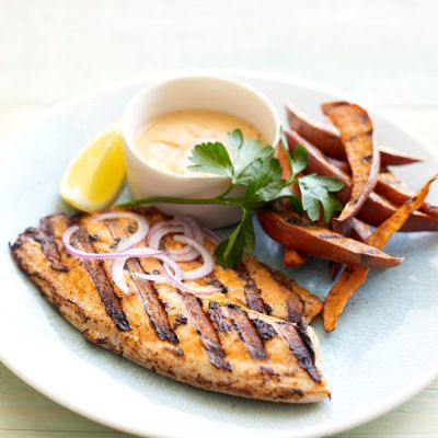 Grilled Tandoori Fish And Chips Recipes