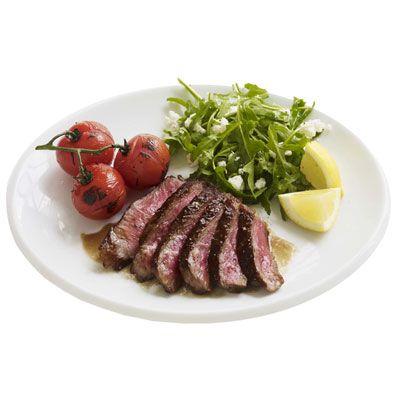 balsamic steak with arugula salad