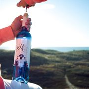 Fluid, Liquid, Finger, Drinkware, Bottle, Plastic bottle, Azure, Drink, Nail, Water bottle,