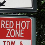 red hot road sign