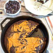 Pumpkin Pie Skillet Brownie