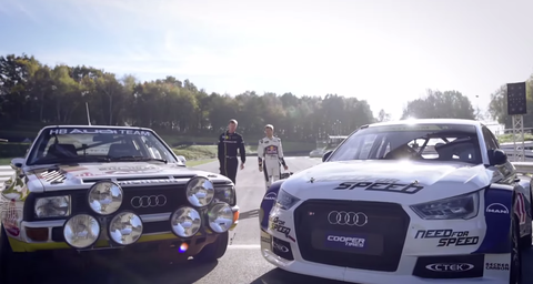 Walter Rohrl An S EKS RX Quattro And The Estering - Walter audi