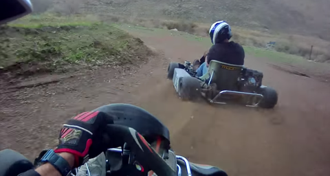 Dirt track kart racing