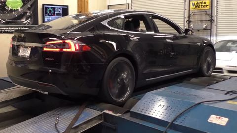 Tesla Model S P85D Dyno Video